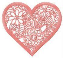 Floral lace doily
