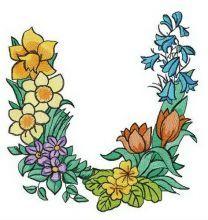 Floral letter U