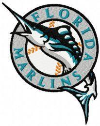 Florida Marlins machine embroidery design