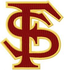 Florida State Seminoles logo machine embroidery design