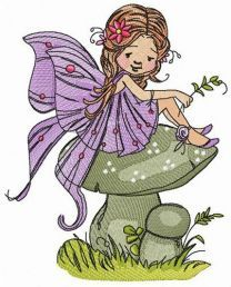 Forest fairy embroidery design