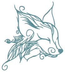 Forest fox spirit embroidery design 5