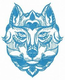 Fox in the mask embroidery design 2