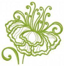 Fragile flower machine embroidery design 6