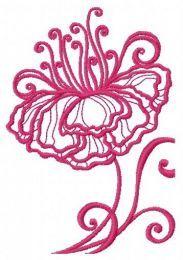 Fragile flower machine embroidery design 8