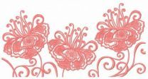Fragile flower machine embroidery design 9