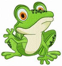 Frog waving paw
