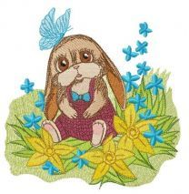 Funny bunny in romper