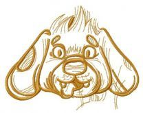 Funny pet puppy embroidery design