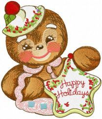Gingerbread cooking master embroidery design