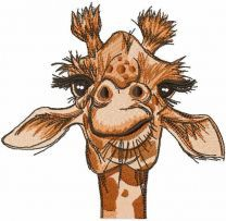 Giraffe look embroidery design