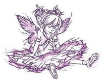Girl fairy tired after dancing