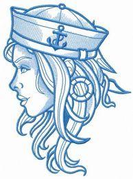 Girl sailor blue gamma