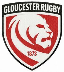 Gloucester Rugby logo embroidery design