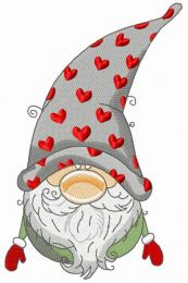Gnome in phrygian cap with hearts