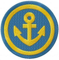 Gold anchor badge