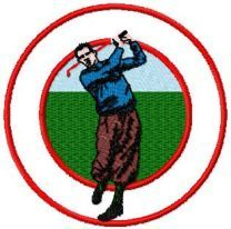 Golf free machine embroidery design