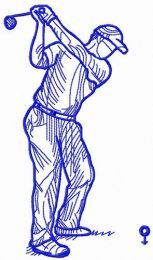 Golfer swungs