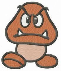Goomba embroidery design