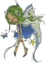 Green Fairy with magic wand
