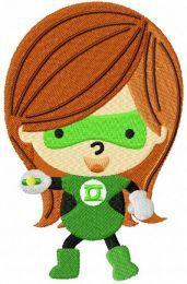 Green lantern chibi girl
