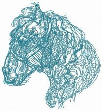 Hairy horse sketch