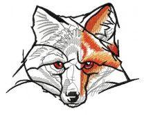 Half-painted fox