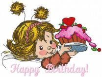Happy birthday mon embroidery design
