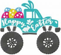 Happy Easter jeep embroidery design