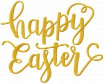 Happy Easter script embroidery design