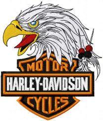 Harley Davidson eagle logo 2