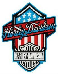 Harley-Davidson retro style logo