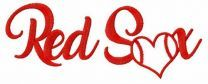 Heart Red Sox embroidery design