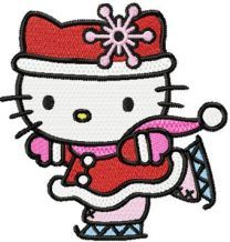 Hello Kitty Christmas Dance embroidery design