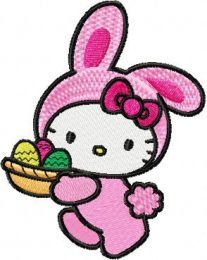 Hello Kitty Happy Easter embroidery design 3
