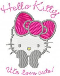 Hello Kitty - We Love Cute! embroidery design