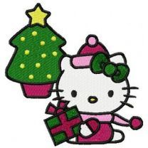 Hello Kitty Christmas embroidery design-2