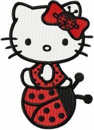 Hello Kitty Ladybug embroidery design