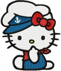 Hello Kitty Marine Suit embroidery design