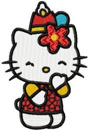 Hello Kitty Party embroidery design