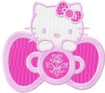 Hello Kitty Pink embroidery design