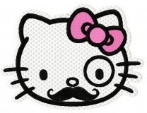 Hello Kitty Poirot embroidery design