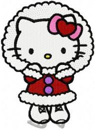 Hello Kitty Winter Skating embroidery design