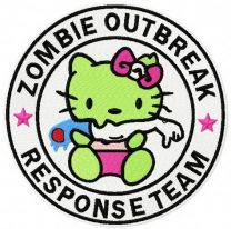 Hello Kitty zombie outbreak response team 2 embroidery design