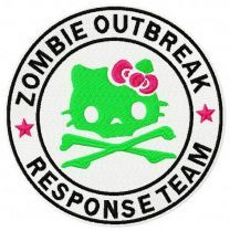 Hello Kitty zombie outbreak response team embroidery design