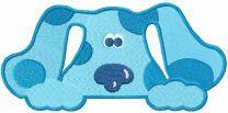 Hiding Blues Clues embroidery design