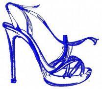 High heel shoe machine embroidery design 5
