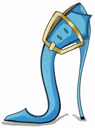 High heels with buckle