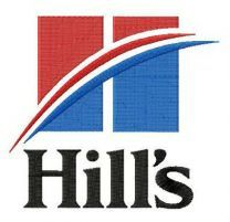 Hill's logo embroidery design