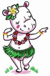 Hippo dancing hula